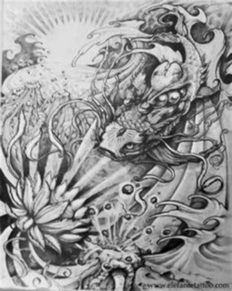 koi fish drawings | Freestyle koi fish drawing - my own design by ~12HighOnLife14 on | Koi