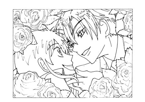 Ouran Line Art By Lockongirl On Deviantart The Gallery For Highschool Host Club