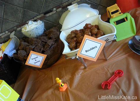 construction cuisine birthday ideas food for a construction