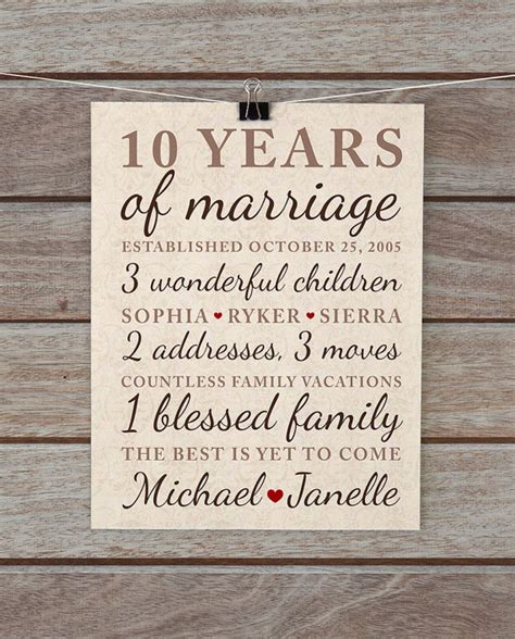 10 year wedding anniversary gift 10 year anniversary gift wedding anniversary important dates