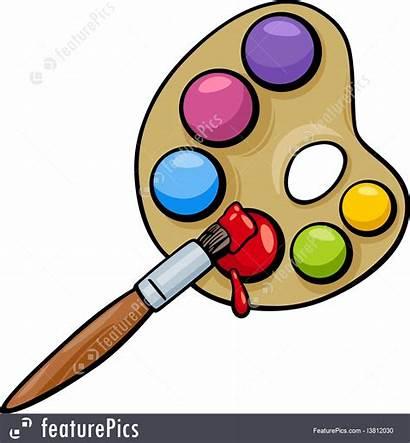 Cartoon Brush Palette Clip Artist Paint Painting