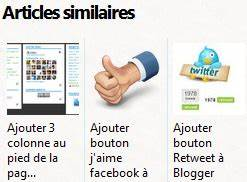 Ajouter Articles Similaires Blogger