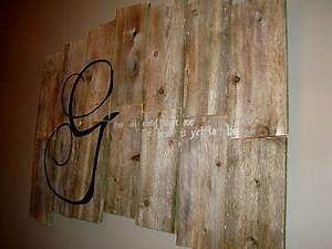 Wall art made f... Plank Art Quotes