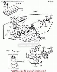 Kawasaki Zx750a2 Gpz750 1984 Usa California Canada Starter