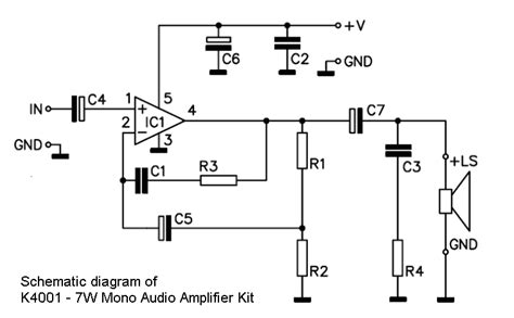 mono audio lifier circuit diagram wiring diagrams