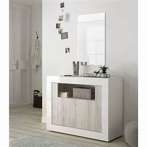 Bahut Blanc Laqué Design : buffet bahut design 2 portes blanc laqu pin blanc elmira matelpro ~ Teatrodelosmanantiales.com Idées de Décoration