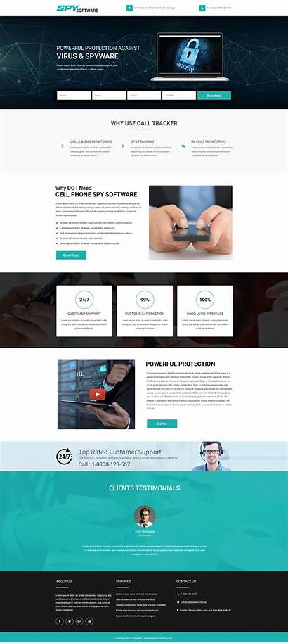 Software Spy Landing Phone Cell Template Selling