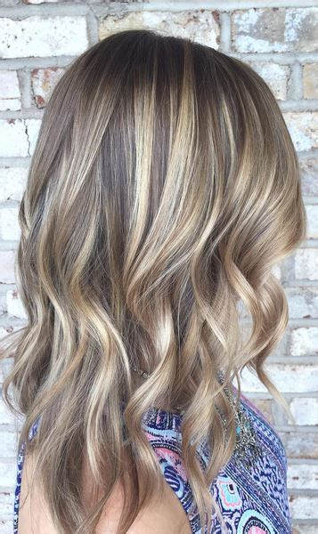 rich brunette  caramel highlights neil george
