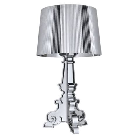 Kartell Bourgie L Silver by Kartell Bourgie L Silver Chromed Kartell Light