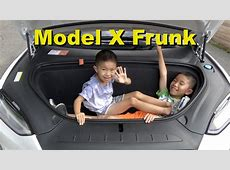Tesla Model X Frunk Front Trunk What Can You Fit? 4K