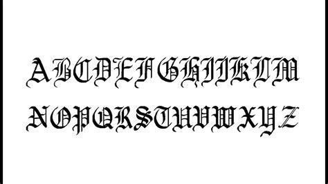 write  english gothic font calligraphy youtube