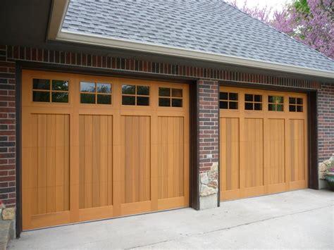 Wood Garage Door by Custom Wood Garage Doors Kansas City St Louis Renner