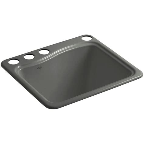 kohler thunder grey sink kohler river falls 22 in x 25 in cast iron utility sink