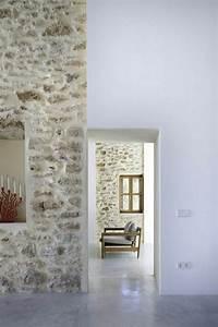 Crochet Mur Beton : d co salon jolie maison avec mur en fausse pierre et sol ~ Zukunftsfamilie.com Idées de Décoration