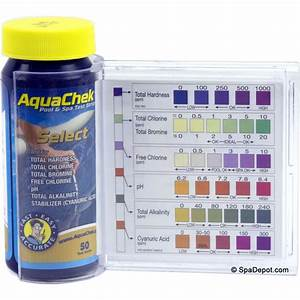 Pool Water Test Color Chart Aquachek Select 7 In 1 Spa Test Strips Kit Spadepot Com