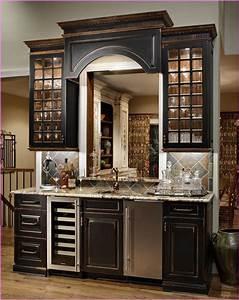 Black, Distressed, Kitchen, Cabinets