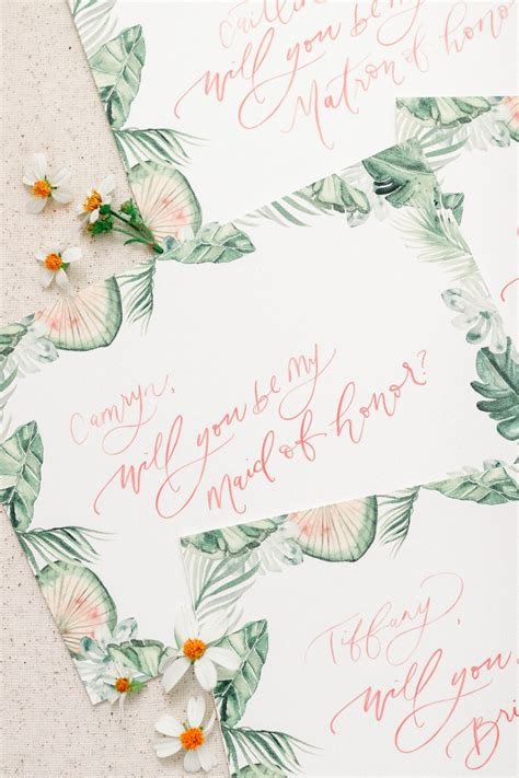 bridesmaid tropical bridesmaid proposals