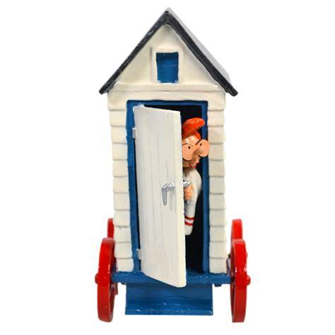 cabine de plage exterieur gaston lagaffe gaston et mlle jeanne sortant de sa cabine de plage figurine m 233 tal 7 5 cm