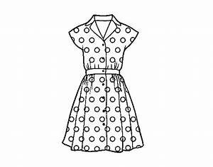 Pinup dress coloring page Coloringcrew