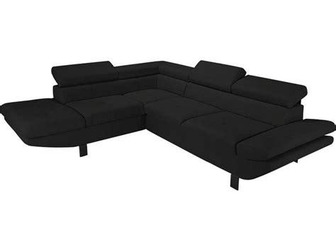 canape d angle conforama canapé d 39 angle fixe gauche 4 places loft coloris noir en