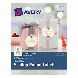 Avery pearlized scallop round labels 25 inch diameter for Avery 2 5 inch round labels template