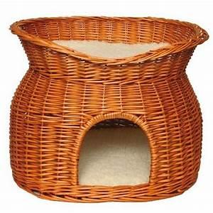 Panier Osier Chat : panier osier avec lit au dessus pour chat accessoires pour le couchage du chien et du chat ~ Teatrodelosmanantiales.com Idées de Décoration