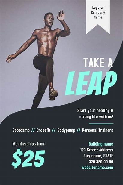 Flyer Gym Fitness Template Flyers Poster Membership