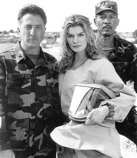rene russo monkey movie morgan freeman dustin hoffman and rene russo in outbreak