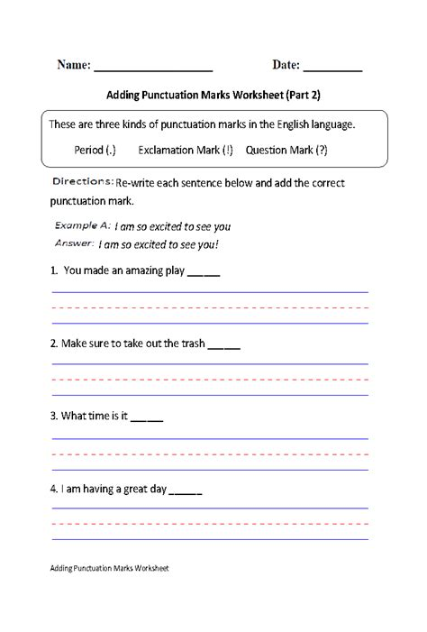 englishlinx punctuation worksheets