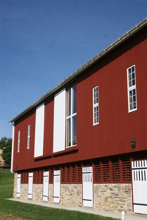 bank barn conversion  woodworking studio