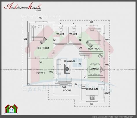 1000 Sq Ft House Plans 2 Bedroom Indian Style by 2000 Square Feet 3 Bedroom House Plan And Elevation