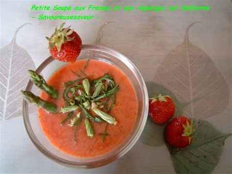 cuisiner salicorne recette soupe aux fraises et aux asperges sur salicorne 750g