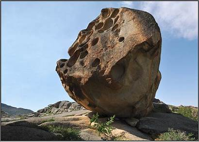 Giant Lake Boulders Rocks Shores Kazakhstan Scattered