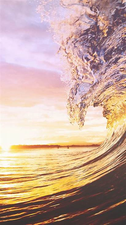 Iphone Sunset Wave Phone Backgrounds Ocean Wallpapers