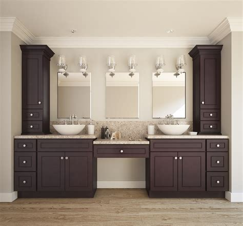 espresso bean ready  assemble bathroom vanities