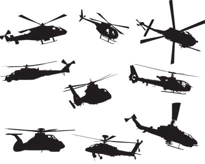 helicopters silhouette vector ai svg eps vector