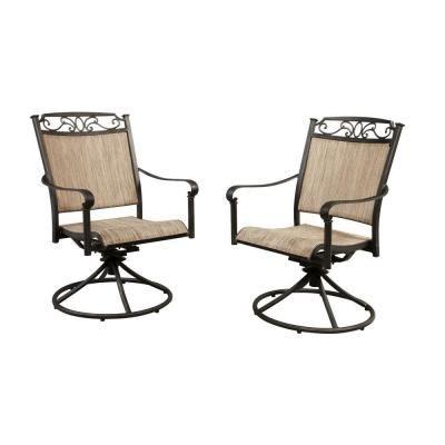 hton bay santa swivel rocker patio dining chair