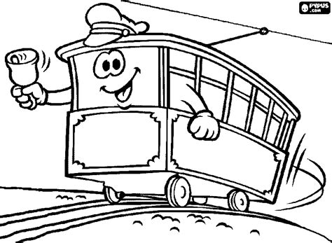 Tram Kleurplaat by Cable Car Coloring Pages Getcoloringpages