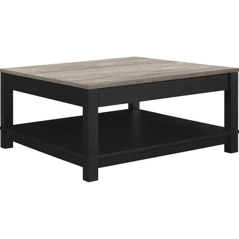 sonoma oak coffee table square coffee table in black and sonoma oak 5047196pcom