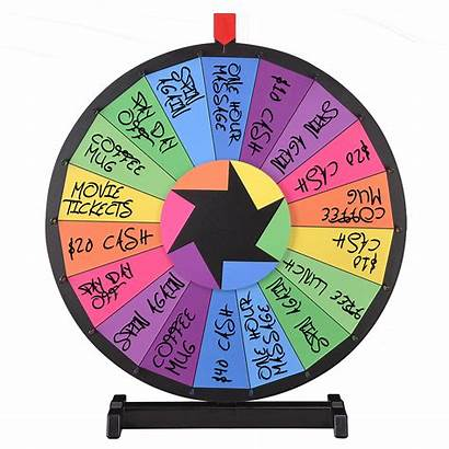 Wheel Spin Fortune Spinning Prize Raffle Games