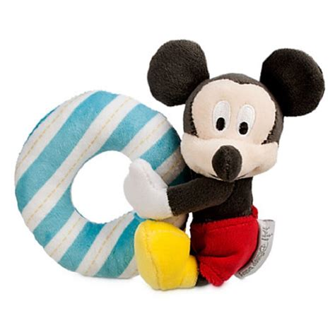 disney mickey mouse plush rattle for baby ebay
