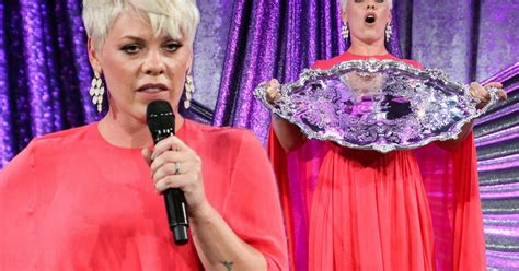Pink Drowns Her Frame In Massive Dress After Being Trolled