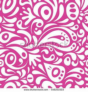 Vector Seamless Pattern Abstract Floral Elements Stock