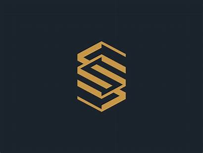 Ss Double Dribbble Luxury Creative Initials