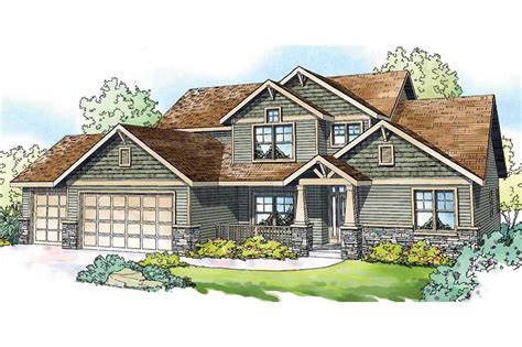 craftsman home bedrooms sq ft floor plan
