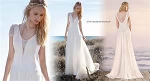 Robes De Mariée Bohème Chic : robe de mariee hippie ~ Nature-et-papiers.com Idées de Décoration