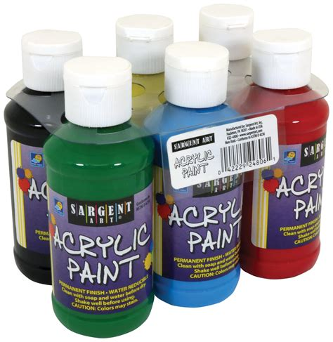 22 4806 sargent primary acrylic paint 4 ounce 6