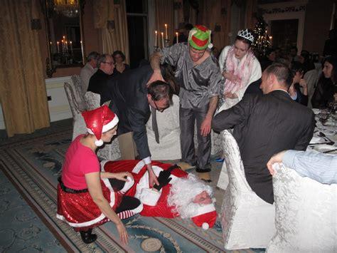 killed santa claus christmas murder mystery activity