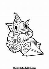 Skylanders Coloring Colouring Skylander Coloriage Imprimer Happy Trigger Thumpback Portal Dog sketch template
