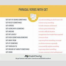 List Of Phrasal Verbs With Get! Myenglishteachereu